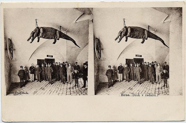 Postal del Ayuntamiento de Brno, 1901.