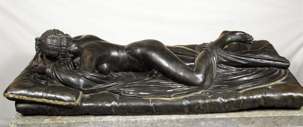 Hermafrodita, escultura en bronces de Matteo Bonuccelli, Museo del Prado