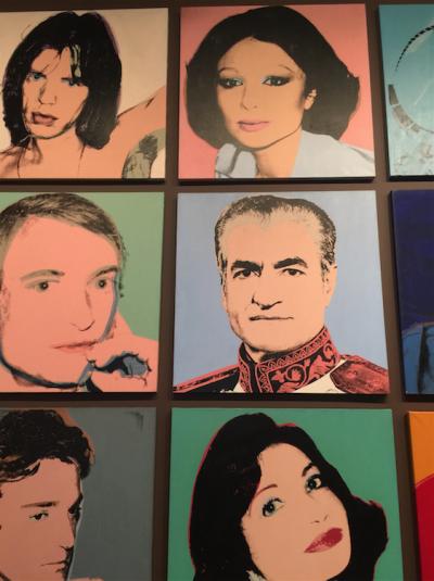 El Sha de Persia y Farah Diba por Andy Warhol