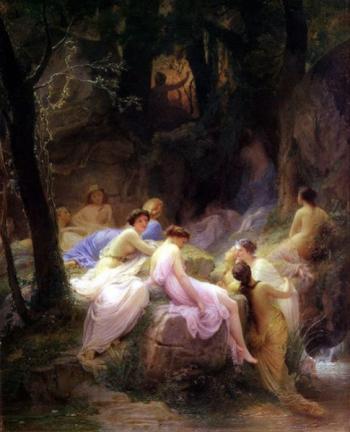 Ninfas escuchando a Orfeo, de Alexandre Cabanel.