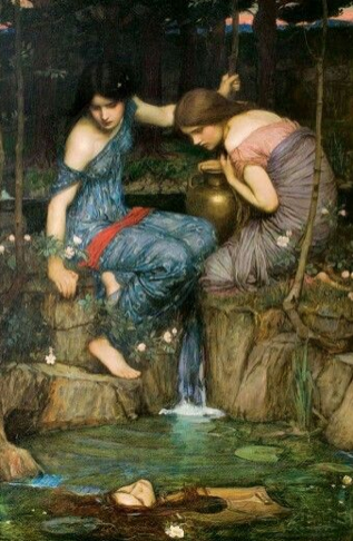 Ninfas encuentran la cabeza de Orfeo (ca. 1900), de John William Waterhouse.