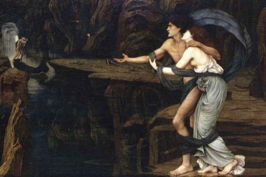 Orfeo y Eurídice a orillas de la Estigia (1878), de John Roddam Spencer Stanhope.
