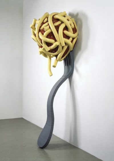 Claes Oldenburg, Leaning Fork With Meatball and Spaghetti, 1994