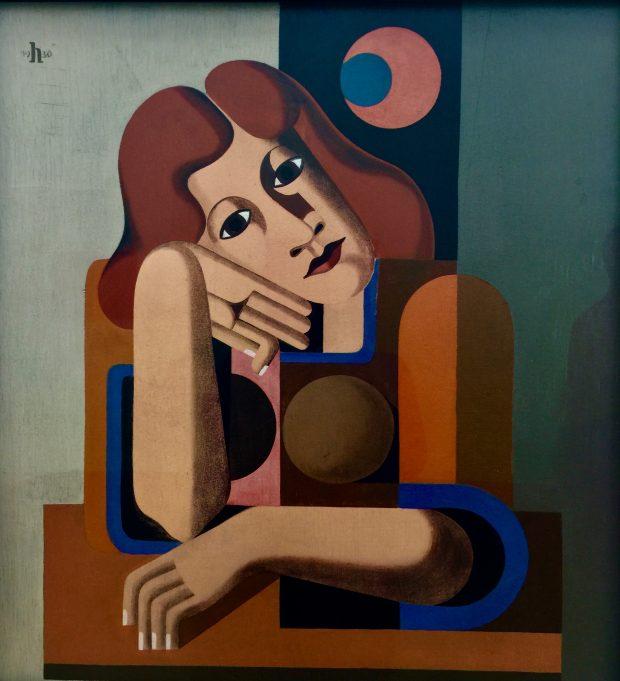 Heinrich Hoerle, 1930 Melancholisches Mädchen