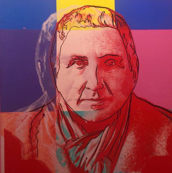 Retrato de Gertrude Stein, por Andy Warhol